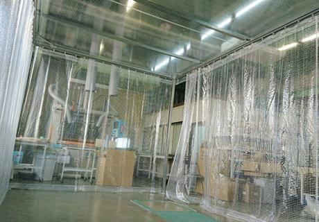 製造業(埼玉県三郷市)鉄骨枠ビニールブース