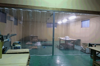 簡易クリーンブース・間仕切りブースの生地 透明ビニールカーテン