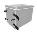 ターポリンシートボックス、ターポリン+メッシュボックス