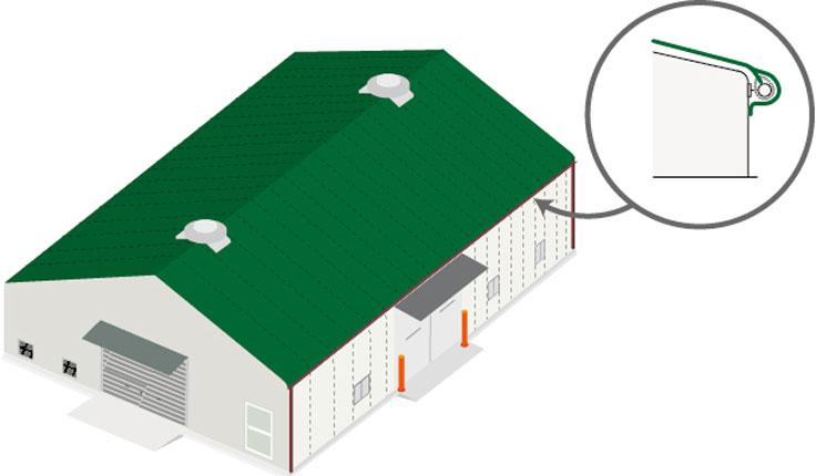 テント倉庫の屋根修理