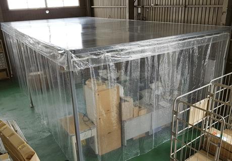 工場(滋賀県栗東市)鉄骨枠ビニールブース