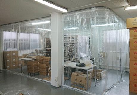 工場(埼玉県川口市)のビニールブース