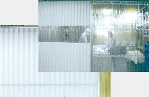 業務用アコーディオンカーテン(アコーディオンドア)不燃ターポリンタイプ