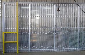 業務用アコーディオンカーテン(アコーディオンドア)透明糸入りタイプ