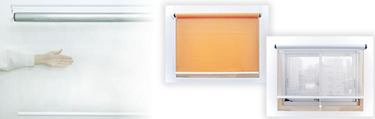 大型 ロールスクリーン(ロールカーテン)透明