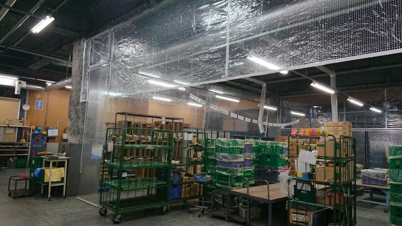 透明糸入りロールスクリーン施工事例3