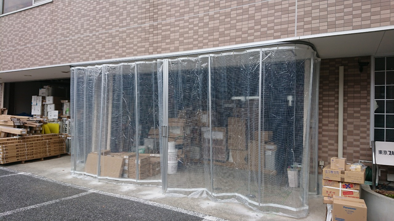 糸入ビニールカーテン施工事例
